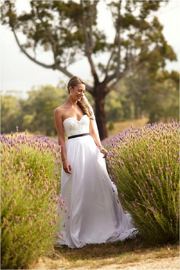 Suzanna Harwood wedding dress with black belt