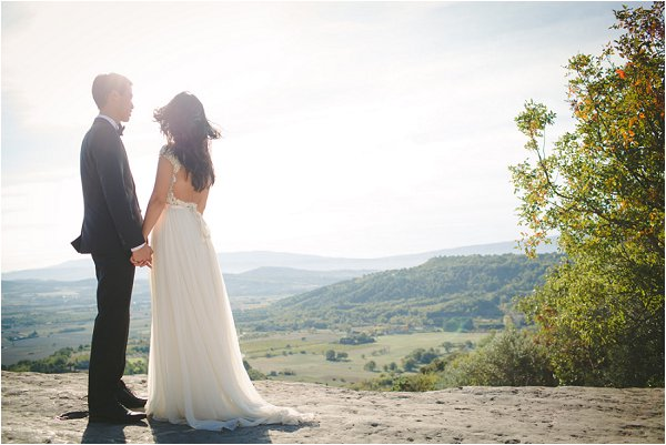 The Bride and groom enjoying a wonderful view