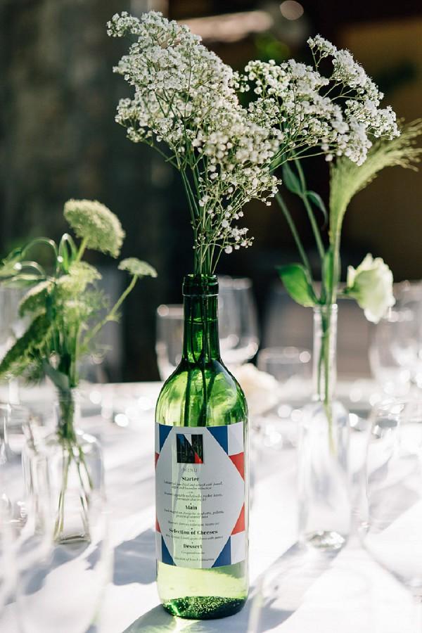 Vineyard provencal wedding reception