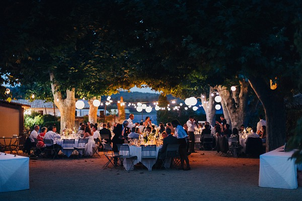 Wedding meal under the stars