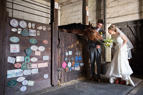 Wedding photos including horses