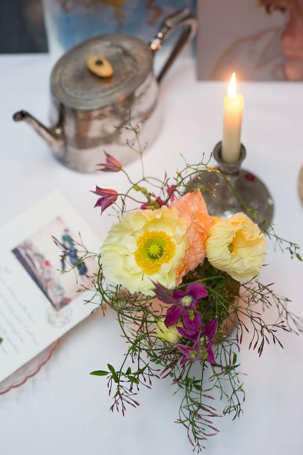 Wildflower wedding jars