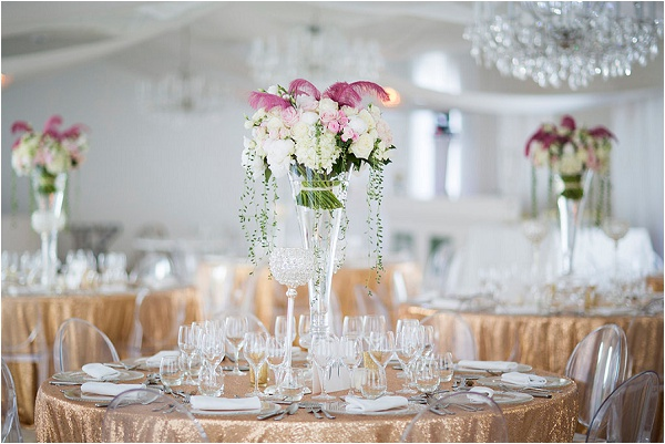 elegant gold wedding styling