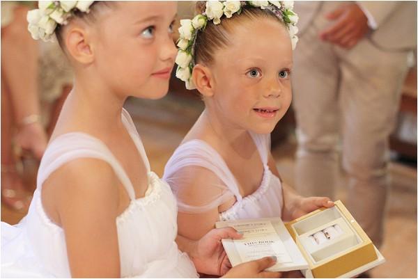 flower girls as ring bearers