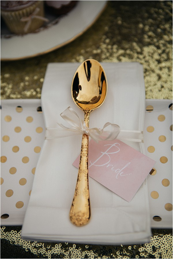 gold wedding cutlery and style