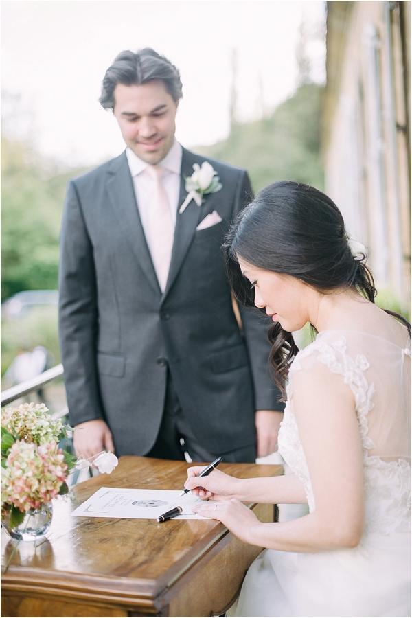 intimate french wedding ceremony