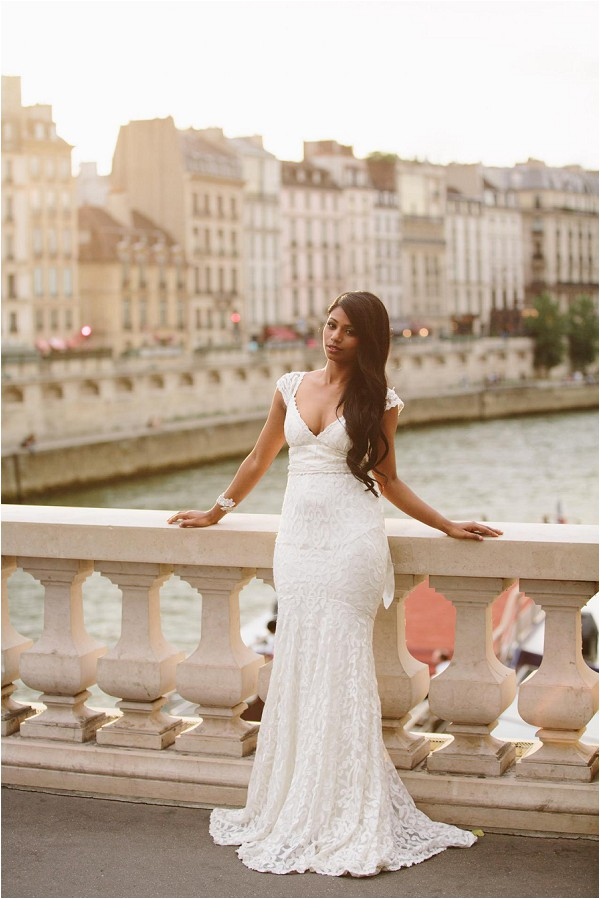 lace wedding dress in Paris