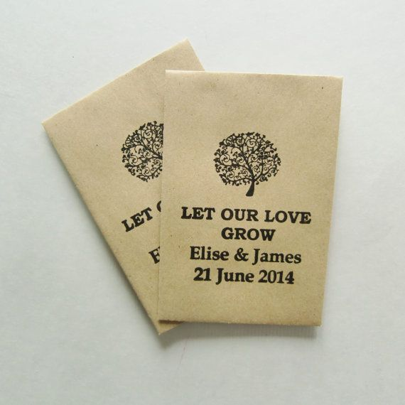 let our love grow seed wedding favors