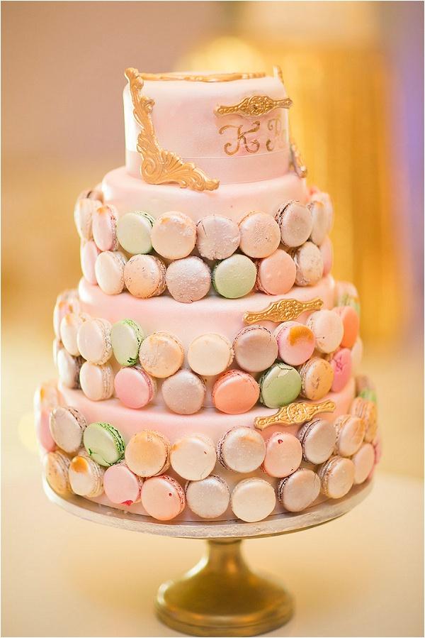 macaron wedding cake