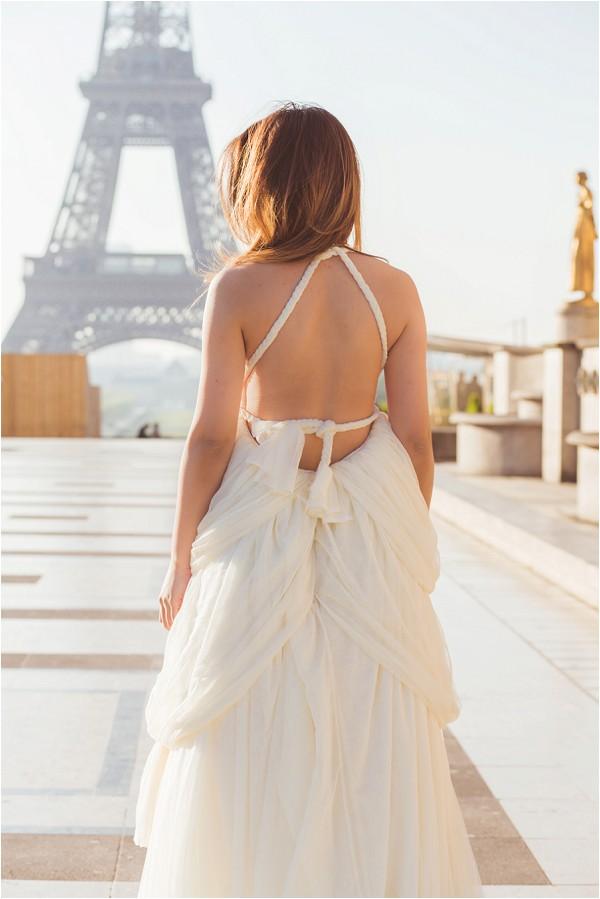 open back pre wedding dress