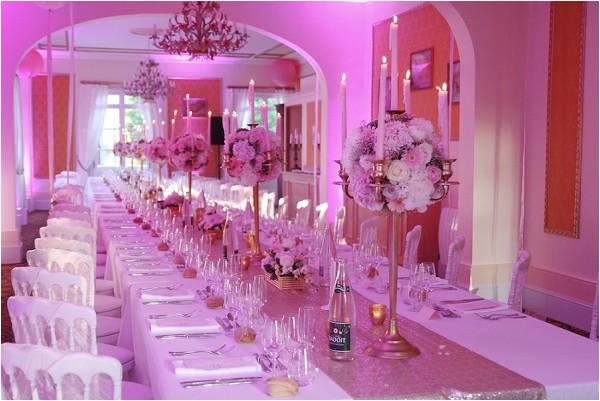 pink romantic wedding styling