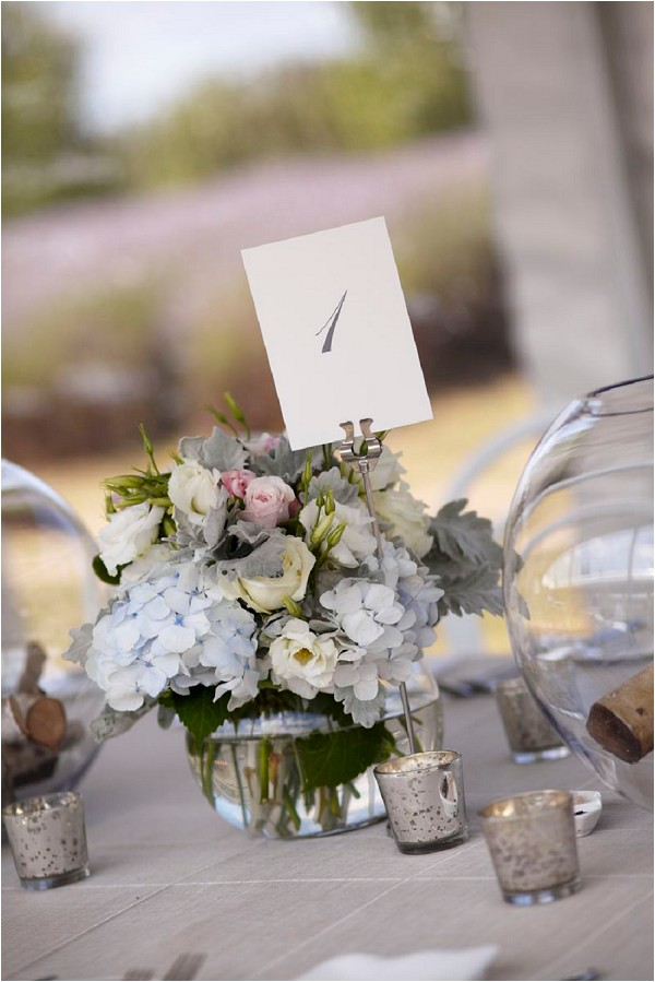 pretty floral wedding table centres