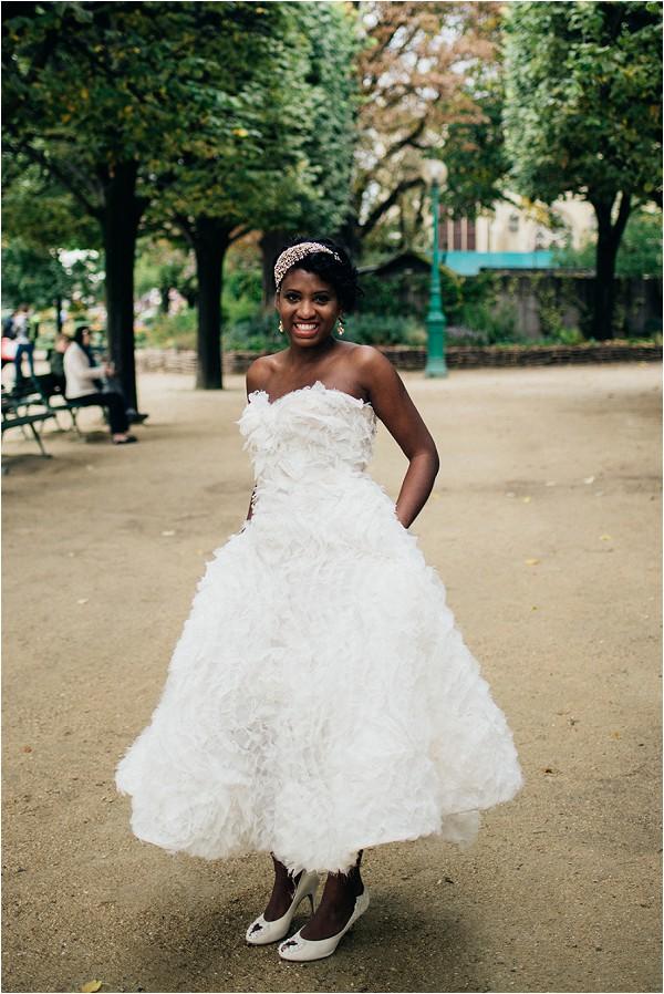 short tea length inspired wedding dress