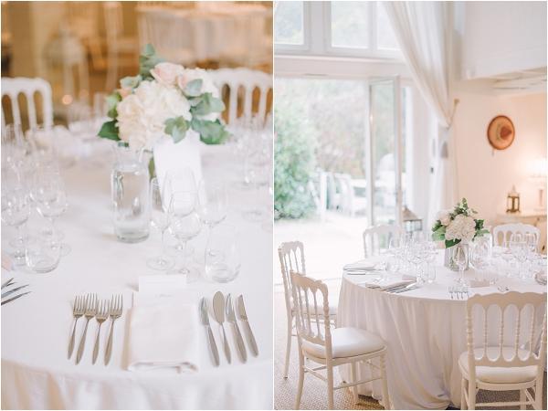 simple and elegant wedding settings