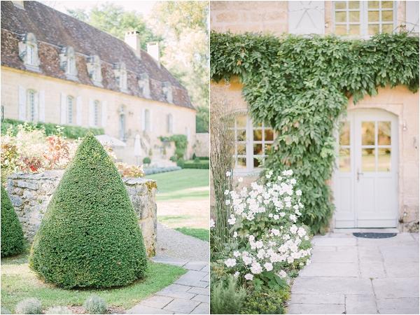 stunning Chateau gardens wedding