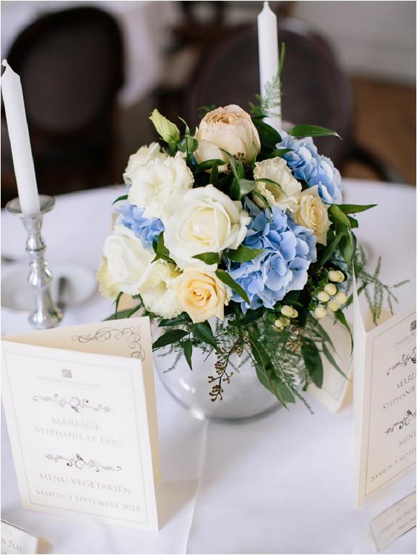 tea rose wedding flowers centrepiece