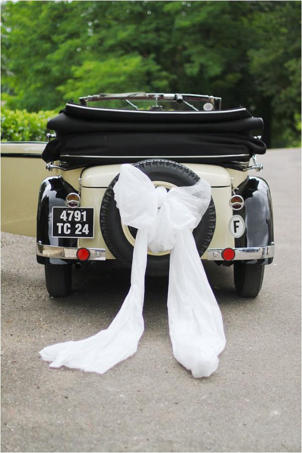 vintage wedding car Dordogne France
