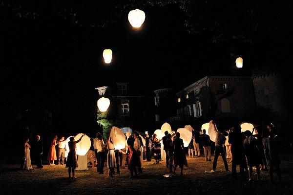 wedding lantern finale