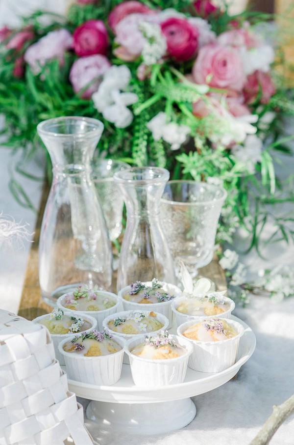 wedding lavender muffins
