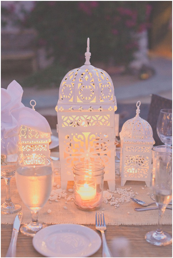 luxury wedding table lanterns