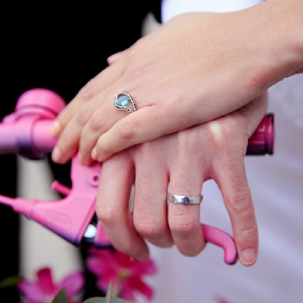Aqua Marine Wedding Ring