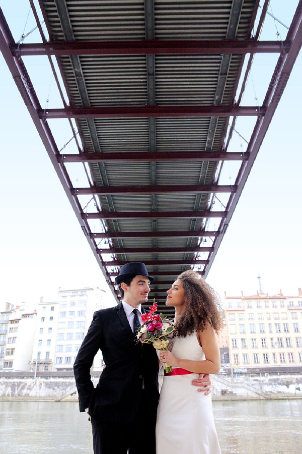 Black tie and Fuchsia wedding