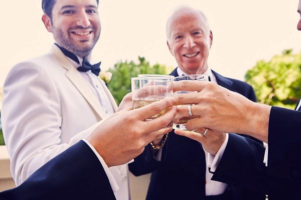 Black tie wedding elegance