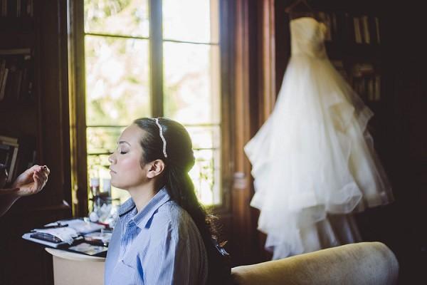 Blue Bridal Wedding Gown