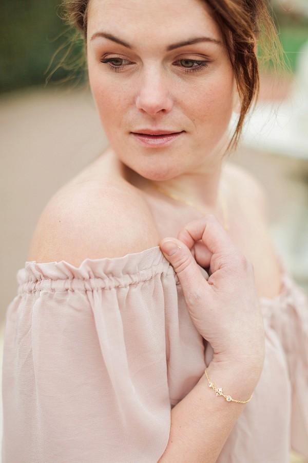 Blush pink wedding gown