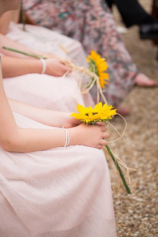 Bridesmaid bouquet single sunflower