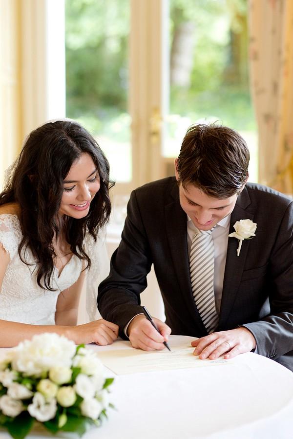 Chic wedding day attire