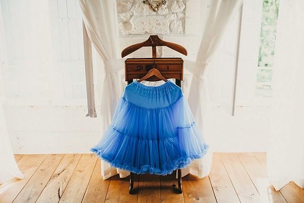 Cobalt blue petticoat