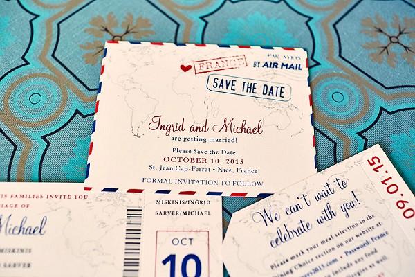 Cute destination wedding invitation