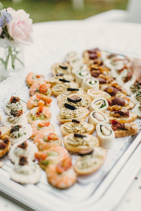 Delicious wedding canapes