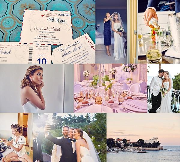 Elegant Fall Côte d'Azur Wedding Snapshot