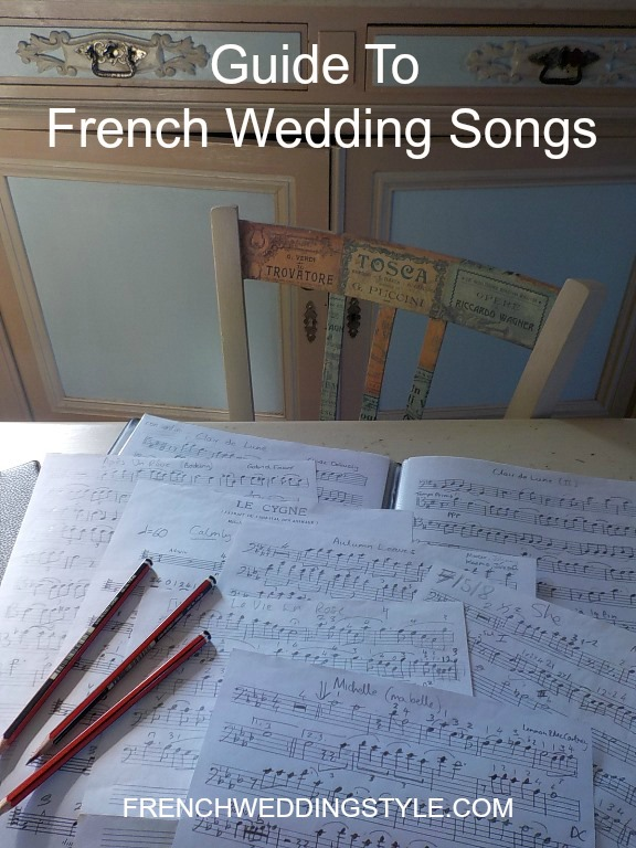 Guide French Songs for weddings