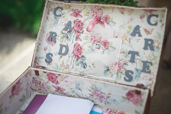 Homemade Wedding Card Suitcase