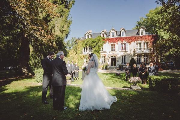 Intimate garden wedding