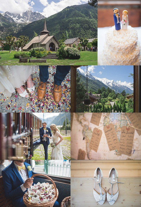 Jenny Packham For A Summer Wedding in Chamonix Snapshot