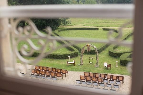 Outdoor Normandy wedding ceremony
