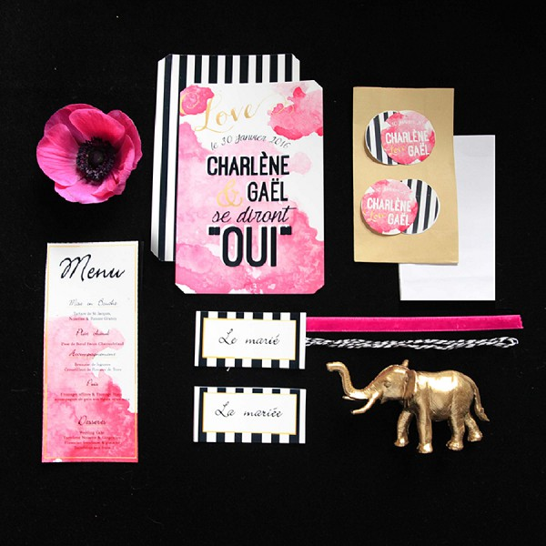 Pink Stationary Wedding Set