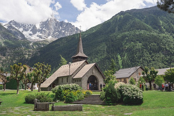 Pretty Church in Chamonix