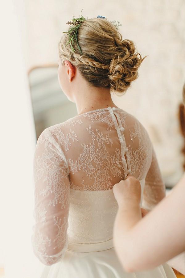 Pretty rustic bridal updo