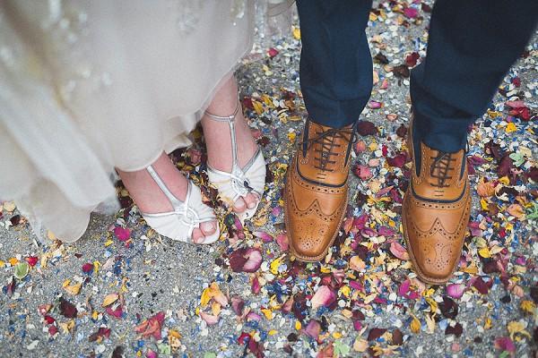 Real petal wedding confetti