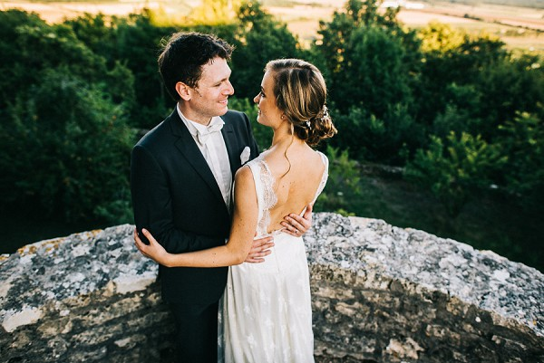 Romantic bride and groom portraits.