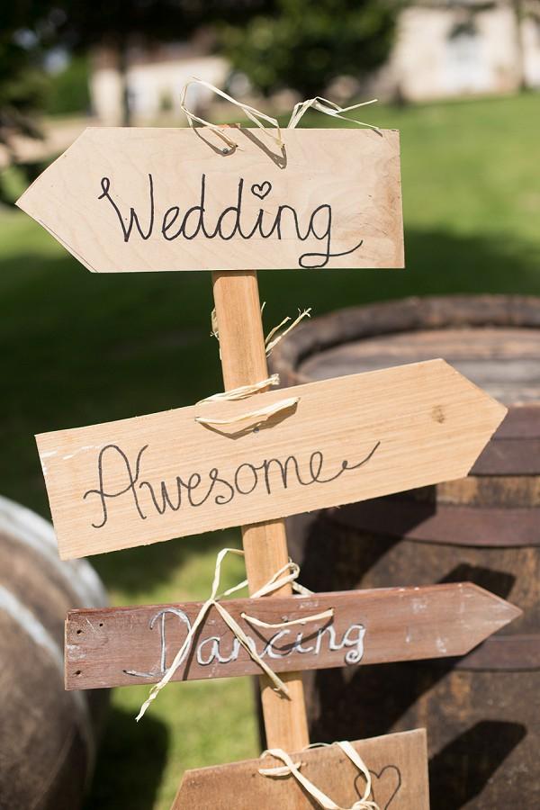 Rustic Wedding Sign Post