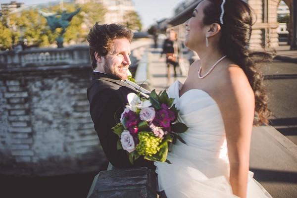Rustic garden wedding bouquet