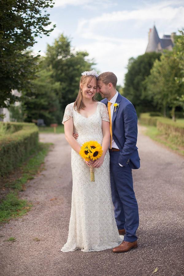 Sunflower Inspired French wedding
