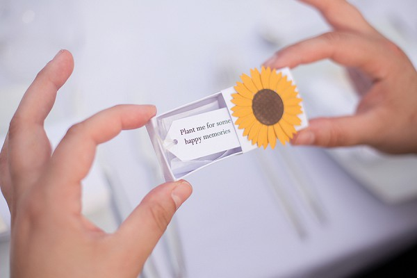 Sunflower seed favors