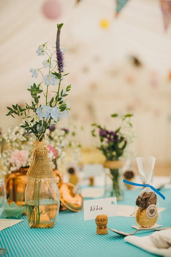 Sweet rustic wedding details